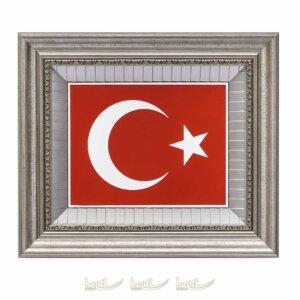 45x52cm Türk Bayrağı Çerçeveli Tablo Bayraklı Tablolar