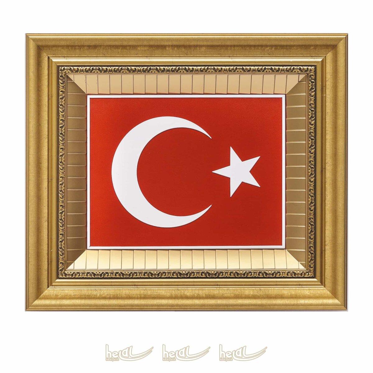 45x52cm Türk Bayrağı Çerçeveli Tablo 45x52cm Türk Bayrağı Çerçeveli Tablo