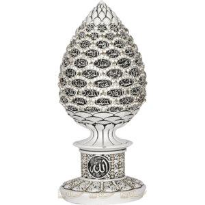 Esmaül Hüsna Beyaz Full Kristal Taşlı Kozalak Tasarımı Lüks Biblo ( 8×19 cm ) Esmaül Hüsna Beyaz Full Kristal Taşlı Kozalak Tasarımı Lüks Biblo ( 8×19 cm )