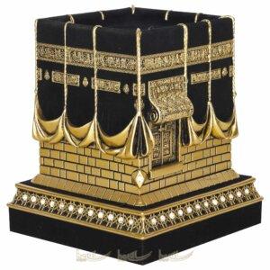 Orta Boy Kadifeli 3 Boyutlu Orijinal Kabe Biblo Taşlı Lüks Dini Hediyeler (11x11x12cm) Biblolar