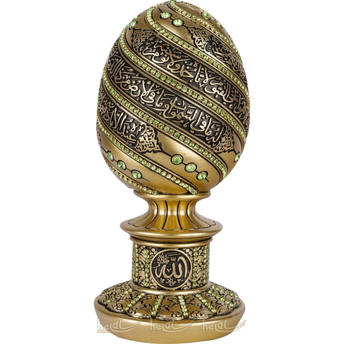 Mini Boy Ayetel Kürsi Dualı Altın Varaklı Kristal Taşlı Lüks Biblo Dini Hediyeler (7×16 cm) Mini Boy Ayetel Kürsi Dualı Altın Varaklı Kristal Taşlı Lüks Biblo Dini Hediyeler (7×16 cm)