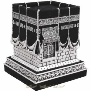 Büyük Boy Kadifeli 3 Boyutlu Orijinal Kabe Biblo Taşlı Lüks Dini Hediyeler (13×13,5x16cm) Biblolar
