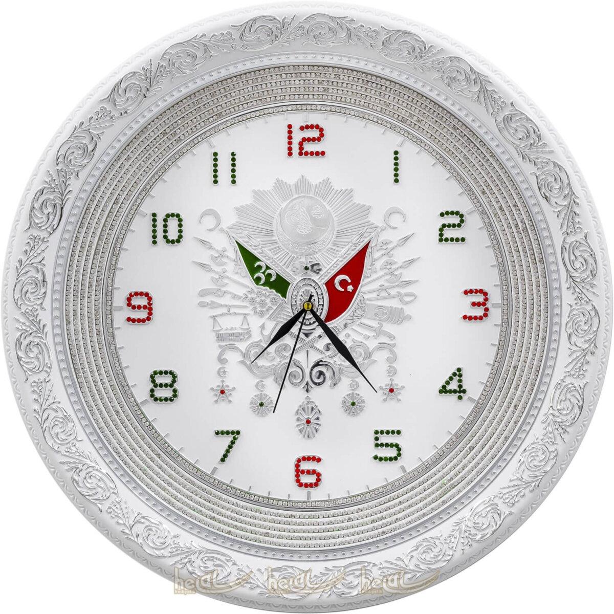 56cm Büyük Lüks Taşlı Osmanlı Devlet Armalı Tuğra Duvar Saati Tablo 56cm Büyük Lüks Taşlı Osmanlı Devlet Armalı Tuğra Duvar Saati Tablo