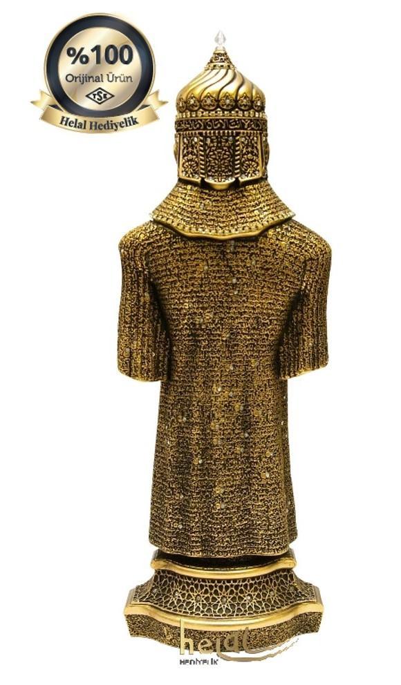 Orta Boy Cevşen-ül Kebir Dualı Osmanlı Asker Zırhı Yeniçeri, Alp Orijinal Biblo ( 10×29 cm) Biblolar