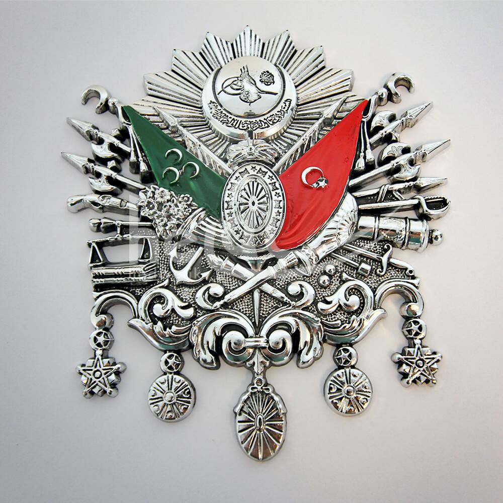 21x25cm No:4 Boş Plastik Kabartma Osmanlı Devlet Arması Osmanlı Armaları