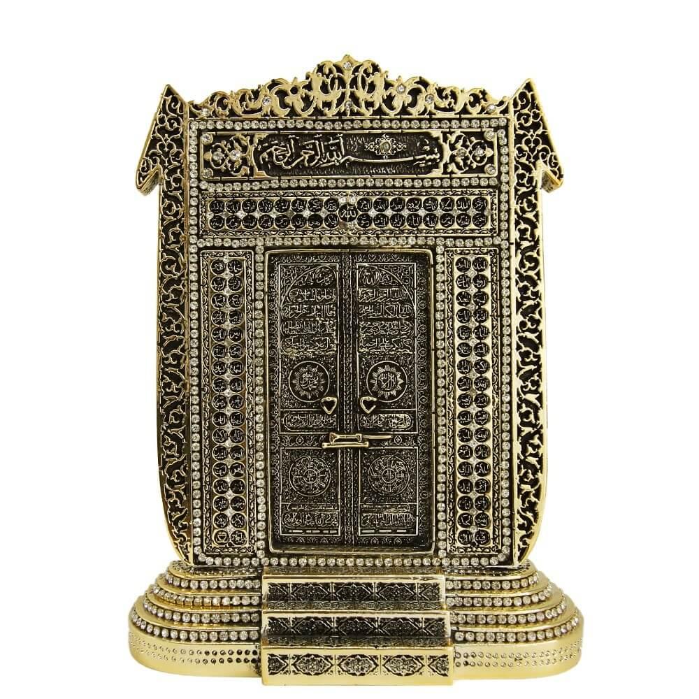 Besmeleli ELif Kabe Kapısı- Esmaül Hüsna Taşlı Biblo (18x24cm) Biblolar