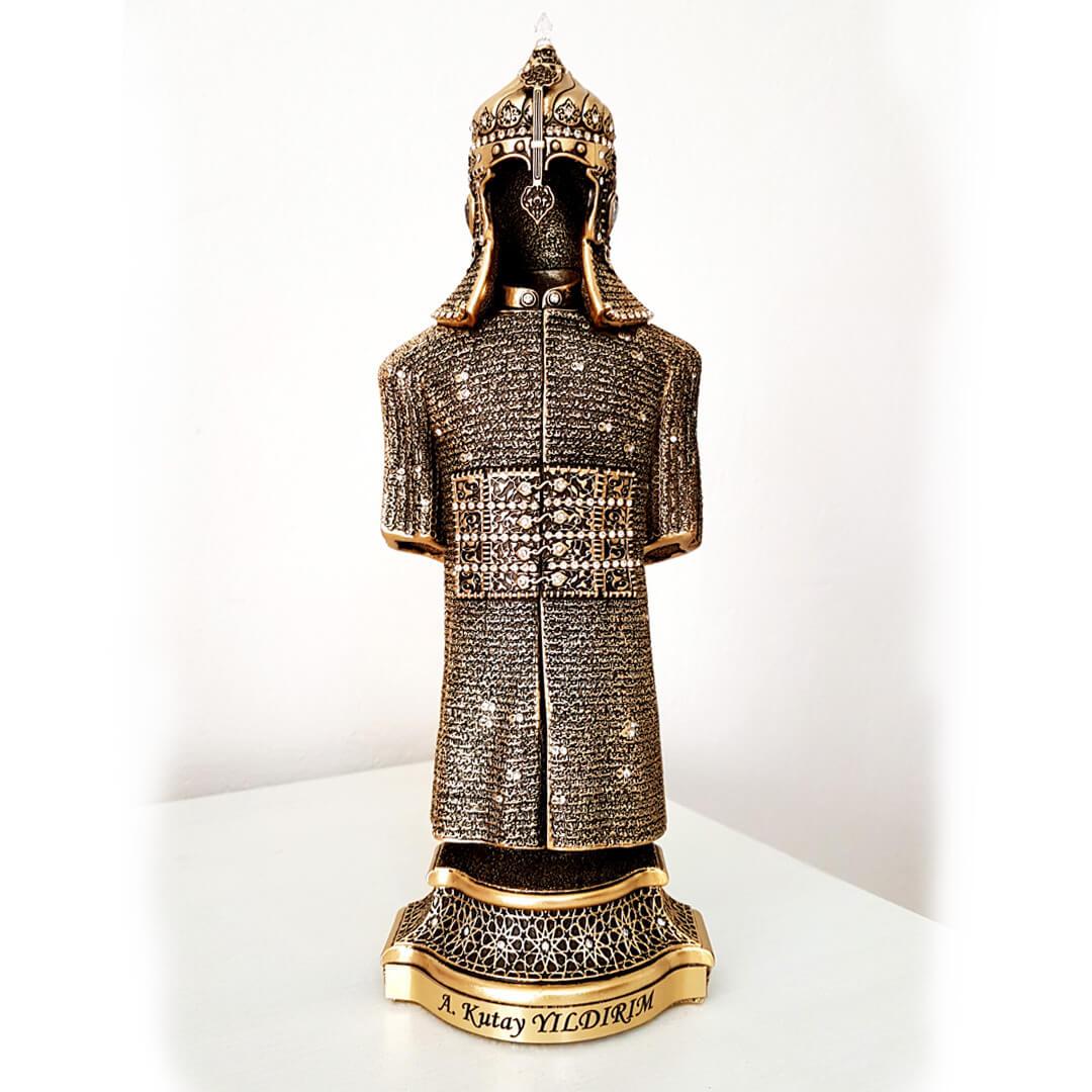 Kişiye İsme Özel Cevşen Duası Yazılı Zırh Asker Biblo Biblolar