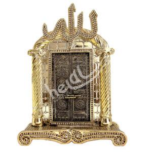 17×23.5 cm Allah cc Yazılı Kabe Kapısı Kristal Taşlı Biblo Biblolar