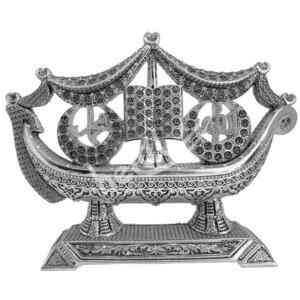 33X25CM Hilalli Gemi Allah cc Muhamed sav. Lafzı Esmaül Hüsna Biblo Biblolar