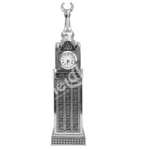 6.7x29cm Zemzem Tower Esmaül Hüsna Yazılı Saat Kulesi Maket Biblo Biblolar