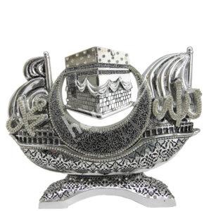 24X19CM Kabe Allah cc Muhammed sav. Sancaklı Gemi biblo Biblolar
