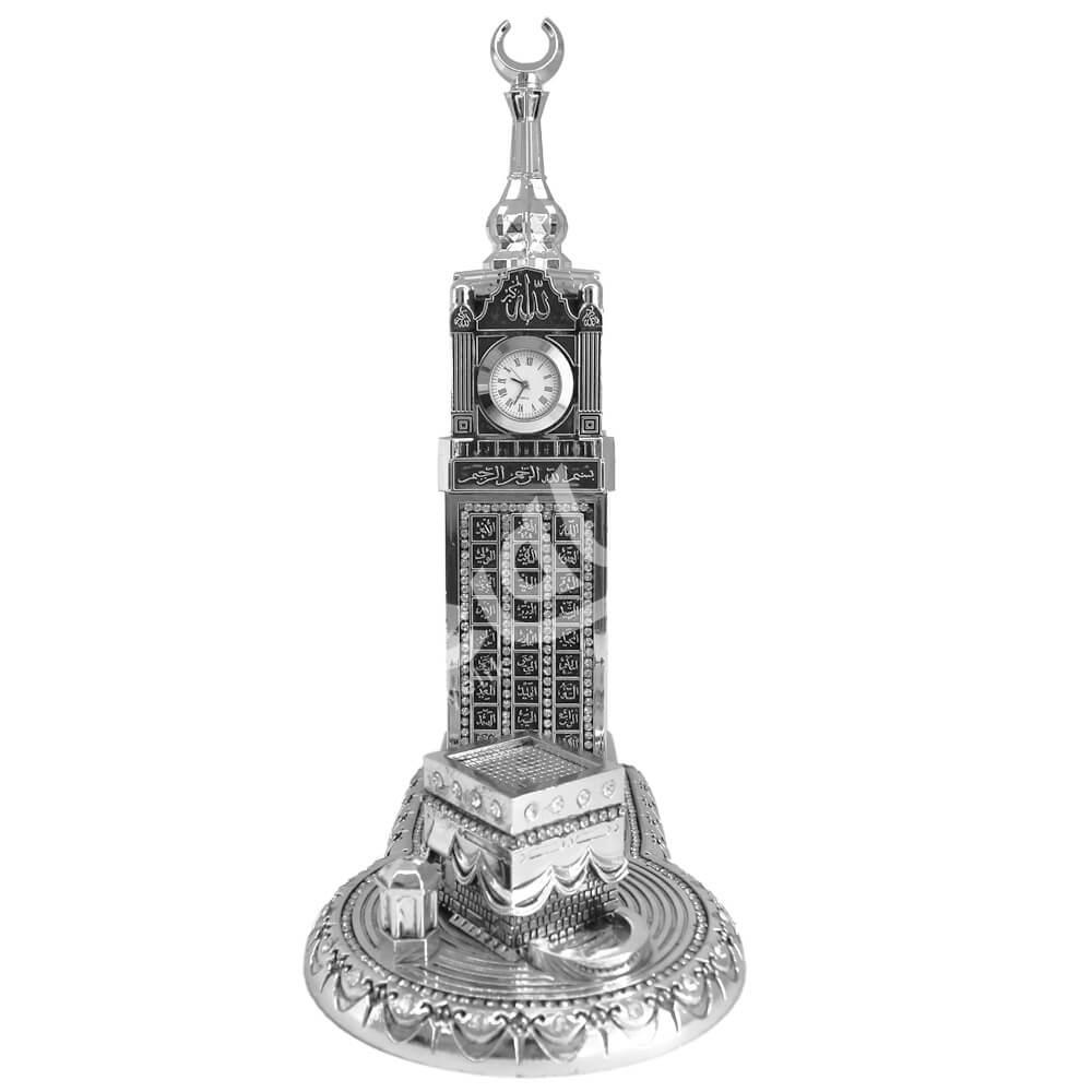 11x25cm Küçük Kabeli Zemzem Tower Esmaül Hüsna Saat Kulesi Biblo Biblolar
