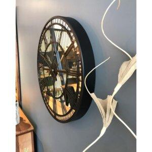 100 cm Aynalı Antrasit Büyük Duvar Saati Saatler