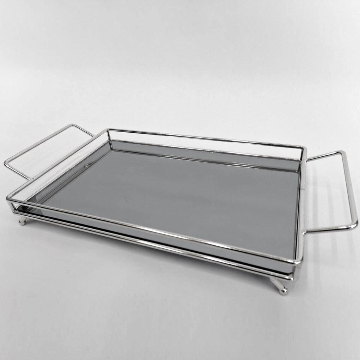 Alice Dekoratif Aynalı Metal Sunum Tepsi 24x34cm Dekoratif Ürünler