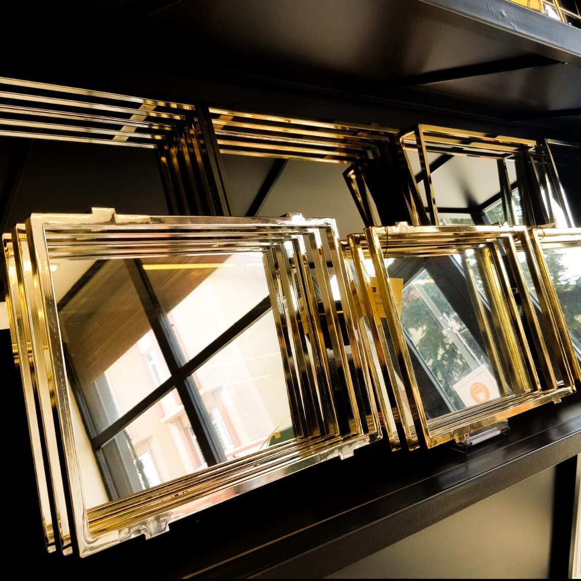 Dekoratif Lüks Üç Katlı Aynalı Sunum Tepsi Dekoratif Ürünler