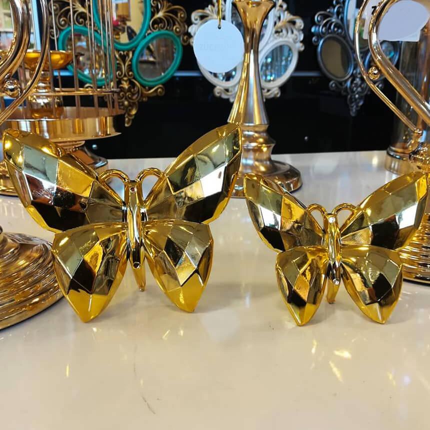 Dekoratif 2'li Kelebek Obje Biblo Dekoratif Ürünler