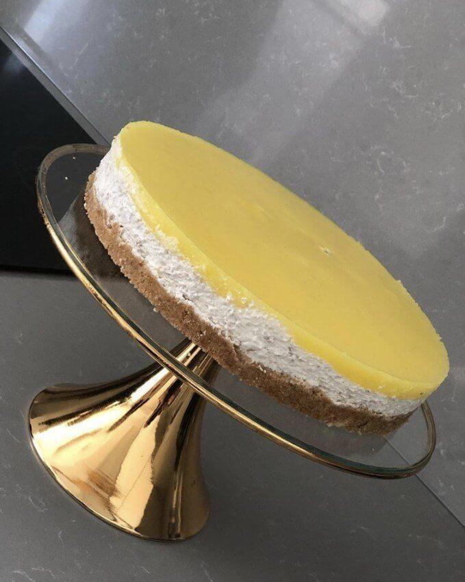 Metal Ayaklı Cam Pasta Kek  Servis Sunum Standı 30cm Dekoratif Ürünler