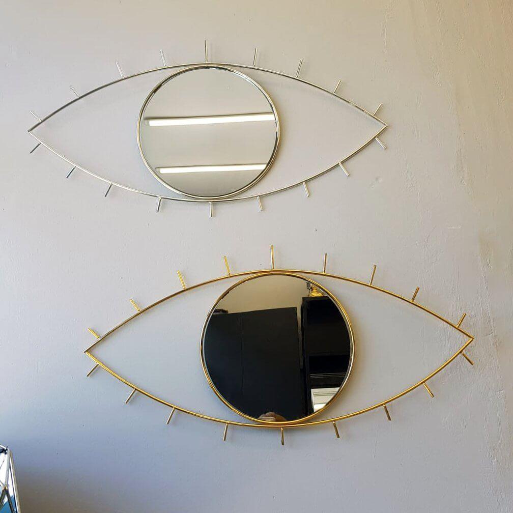 Dekoratif Göz  Cam Aynalı Duvar Tablosu Dekoratif Ürünler