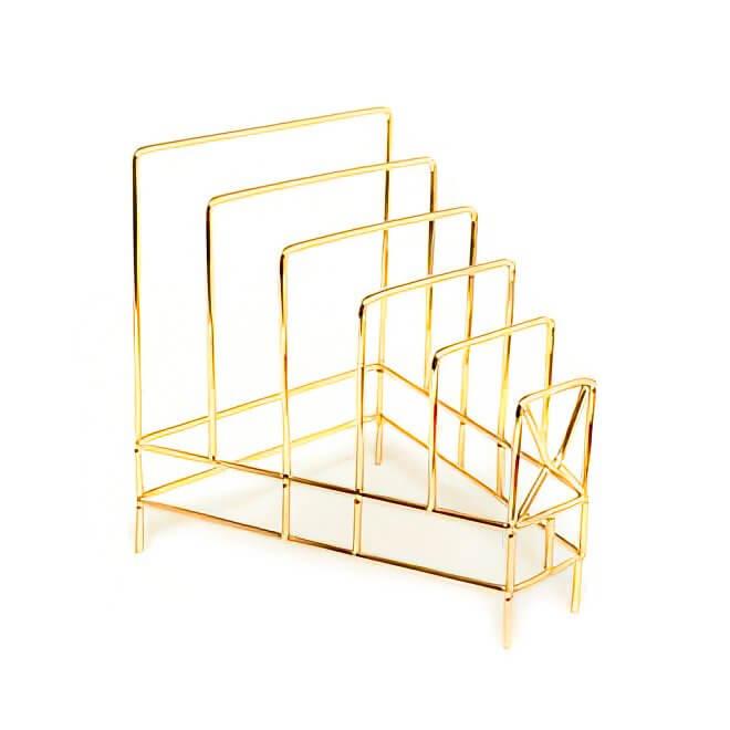 Ayaklı Metal Lüks Gazetelik Gold Dekoratif Ürünler