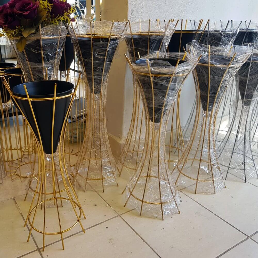 2′ li Metal Ayaklı Saksı Seti Dekoratif Ürünler