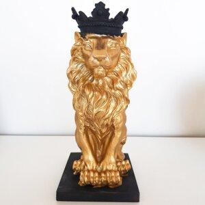 Aslan Kral Biblo Heykel Dekoratif Obje (32x17cm) Dekoratif Ürünler